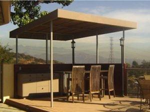 Custom patio shade awning with custom awning fabric