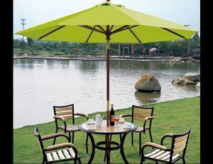 Lime green custom commercial shade umbrella