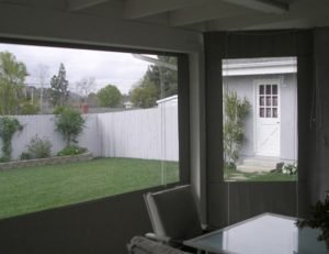 Residential drop-roll awning shade cover