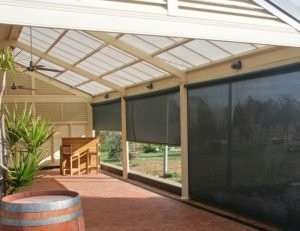 Residential drop-roll awning covers
