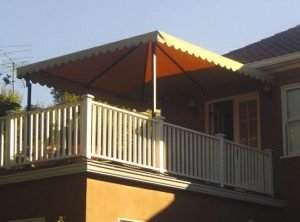 Residential patio shade awning with custom awning fabric in Van Nuys