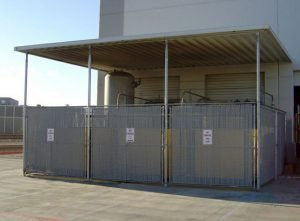 Commercial aluminum awning to protect equipment
