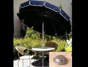 Custom navy blue residential umbrellas