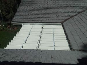 Residential slide on wire awning from the top