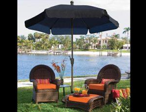 Custom black residential umbrella