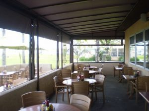 Custom commercial patio shade awning