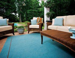 Cream pad cushion fabric for patio furniture