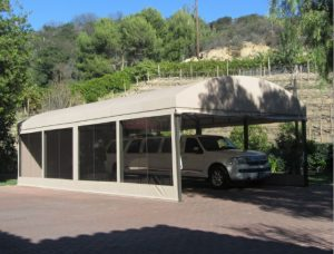 Custom carport awning for a limo