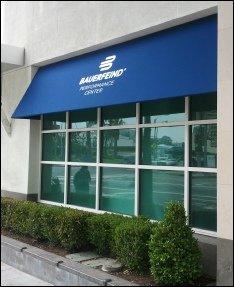 Bauerfeind custom storefront awning