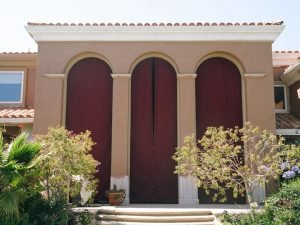 Large red drapes for a home