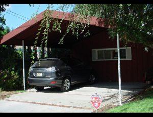 Custom residential carport awning