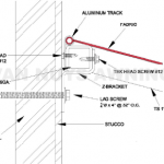 Awning drawing for a custom awning project in Van Nuys
