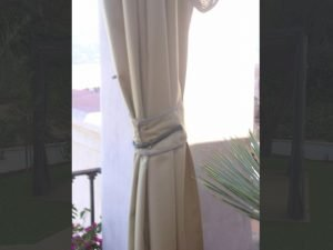 Outdoor drapes bundled up