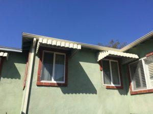 Residential aluminum awnings over windows