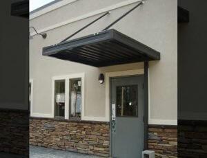 Black aluminum entrance awning