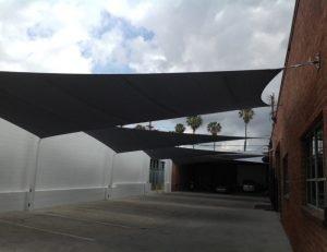 Black sun shade sail awning fabric