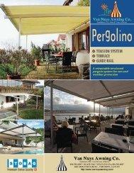 Pergolino brochure for custom awnings