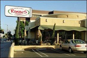 Custom restaurant awning for Roman's