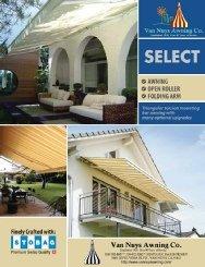 Brochure for custom residential awnings