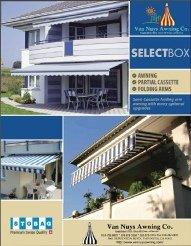 Custom awning brochure from Van Nuys