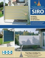 Brochure for shade panels from Van Nuys