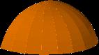 Circular 3D rendering of an awning