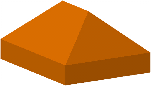 Pyramid like 3D model of an awning