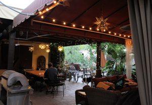 Stunning backyard with our custom awning