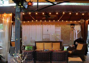 Beautiful backyard with our custom awning