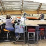 Our fabric team making your custom awning