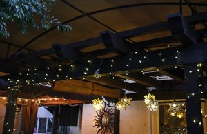 Up close with one of our custom outdoor canopies