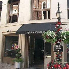 Stephen Webster custom storefront awning