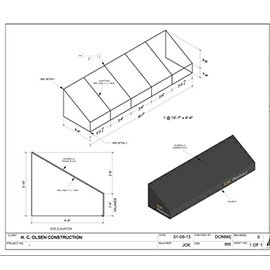 Renderings for a custom awning