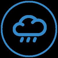 Custom awnings can help mitigate rain damage